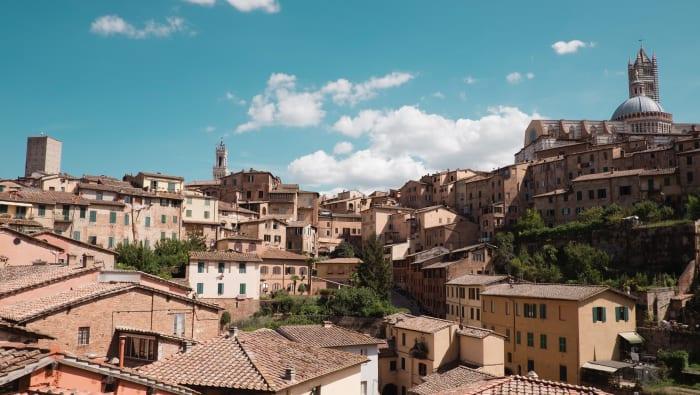 Vue panoramique de Sienne