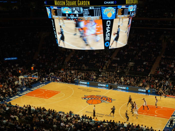 Partido de los Knicks en el Madison Square Garden