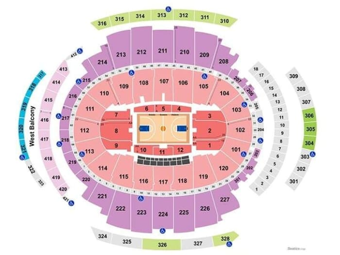 Mapa de asientos del Madison Square Garden