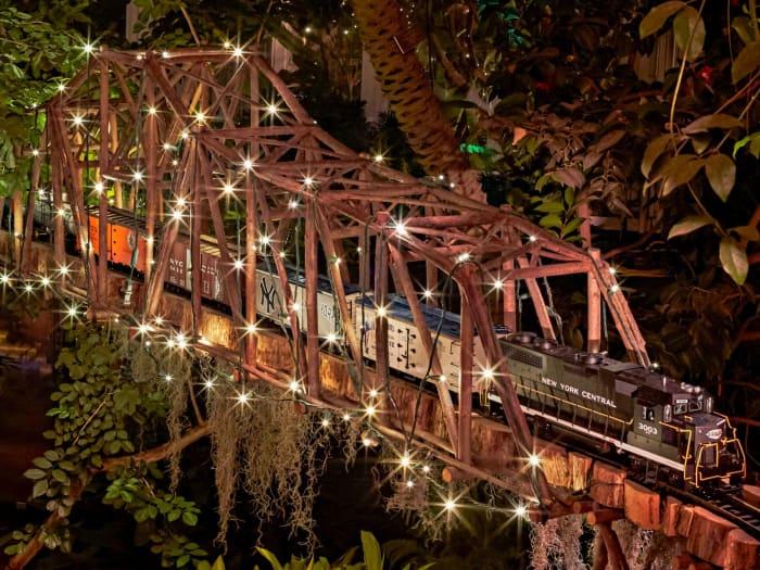 O trem de Natal do Jardim Botânico | ©Nyc Arts