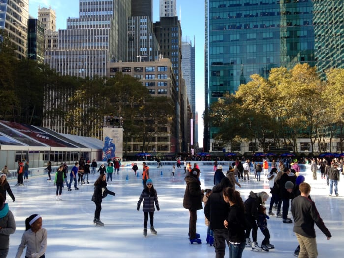 Pista de patinaje de Bryant Park | ©Malvina Battiston / Flickr.com