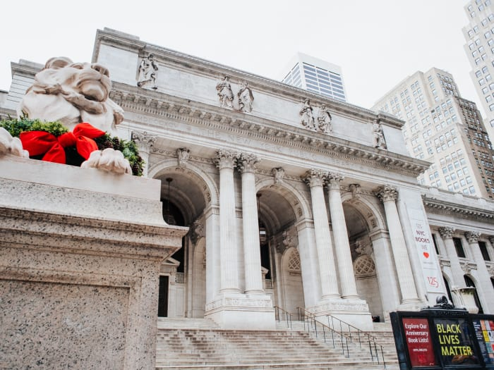 Las famosas escalinatas de la New York Public Library | ©Malvina Battiston