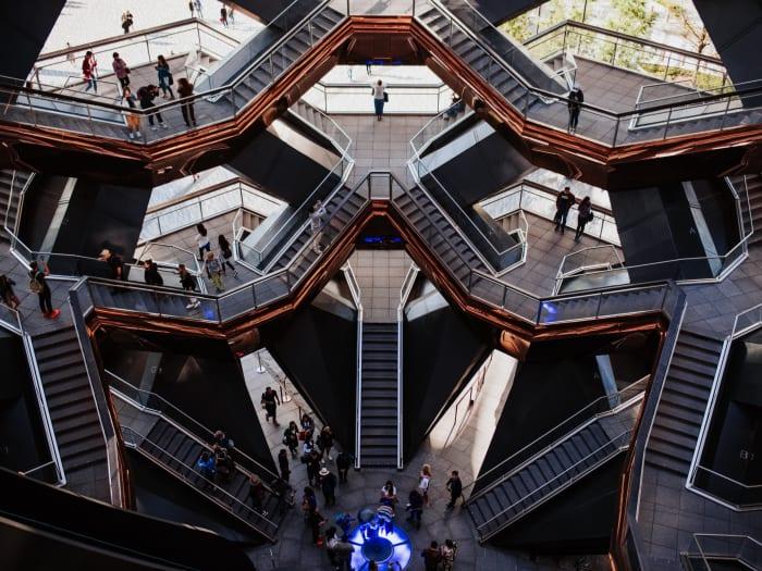 Vista interior de la estructura de The Vessel | ©Malvina Battiston