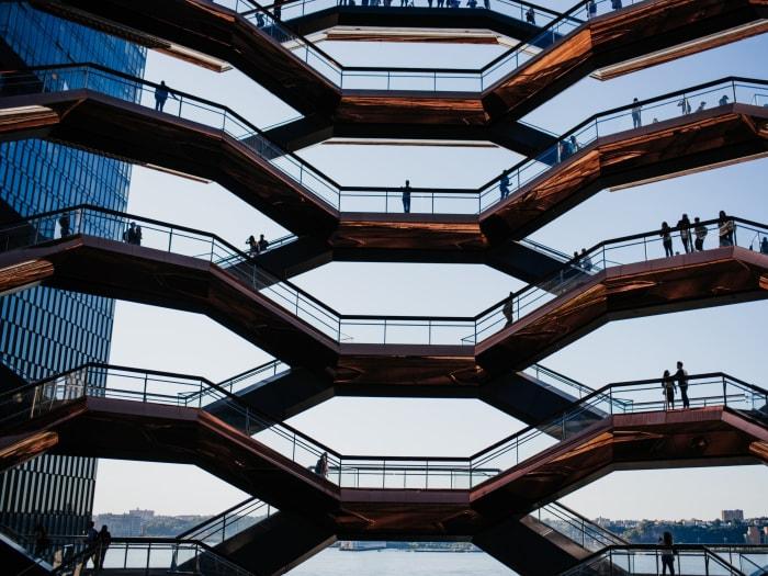 En lo más alto de la estructura de The Vessel | ©Malvina Battiston