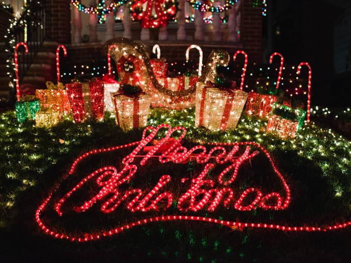 Detalle de las luces de Dyker Heights | ©Malvina Battiston