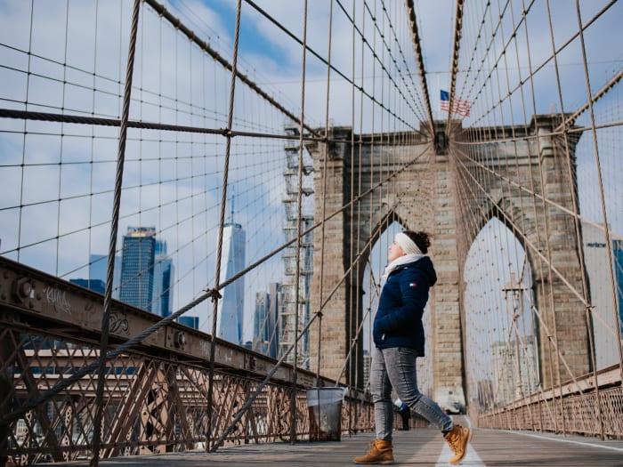 Cruzando el Brooklyn Bridge| ©Malvina Battiston