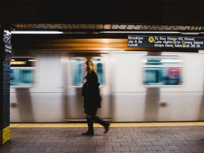 En el metro de Nueva York| ©Malvina Battiston