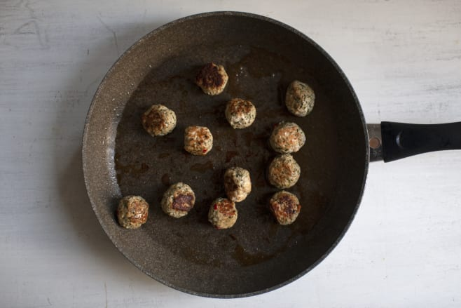 Fry meatballs