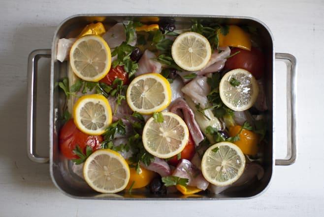 Add fish and lemon