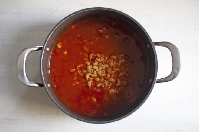 Add macaroni