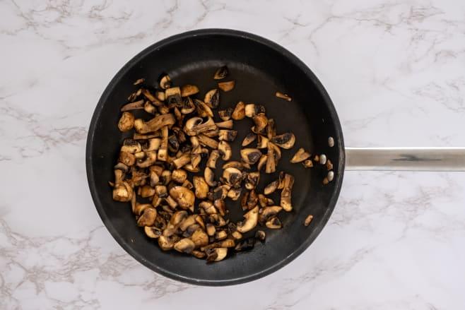 Fry mushrooms