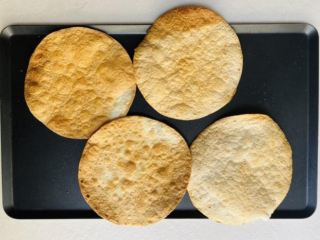 Roast tortillas