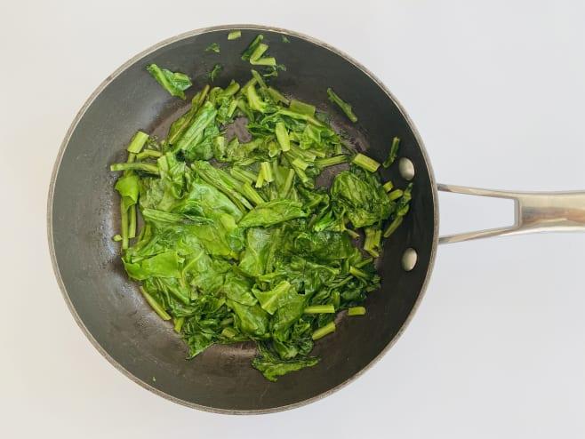 Sauté spinach