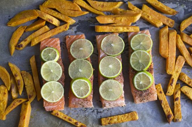 Add salmon and bake