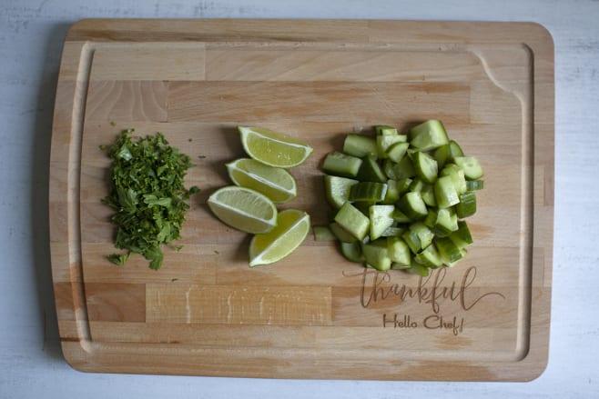 Prep cucumber salad