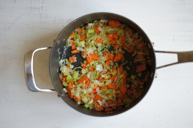 Sweat vegetables