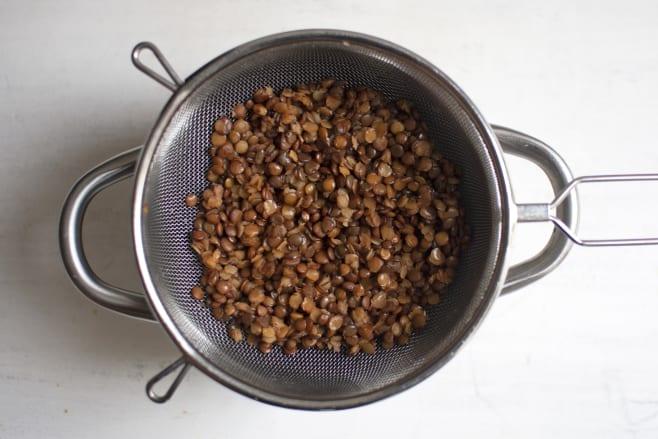 Boil lentils