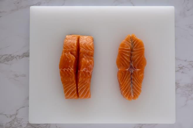 Butterfly salmon