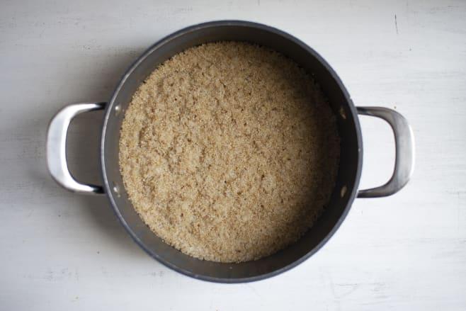 Boil quinoa
