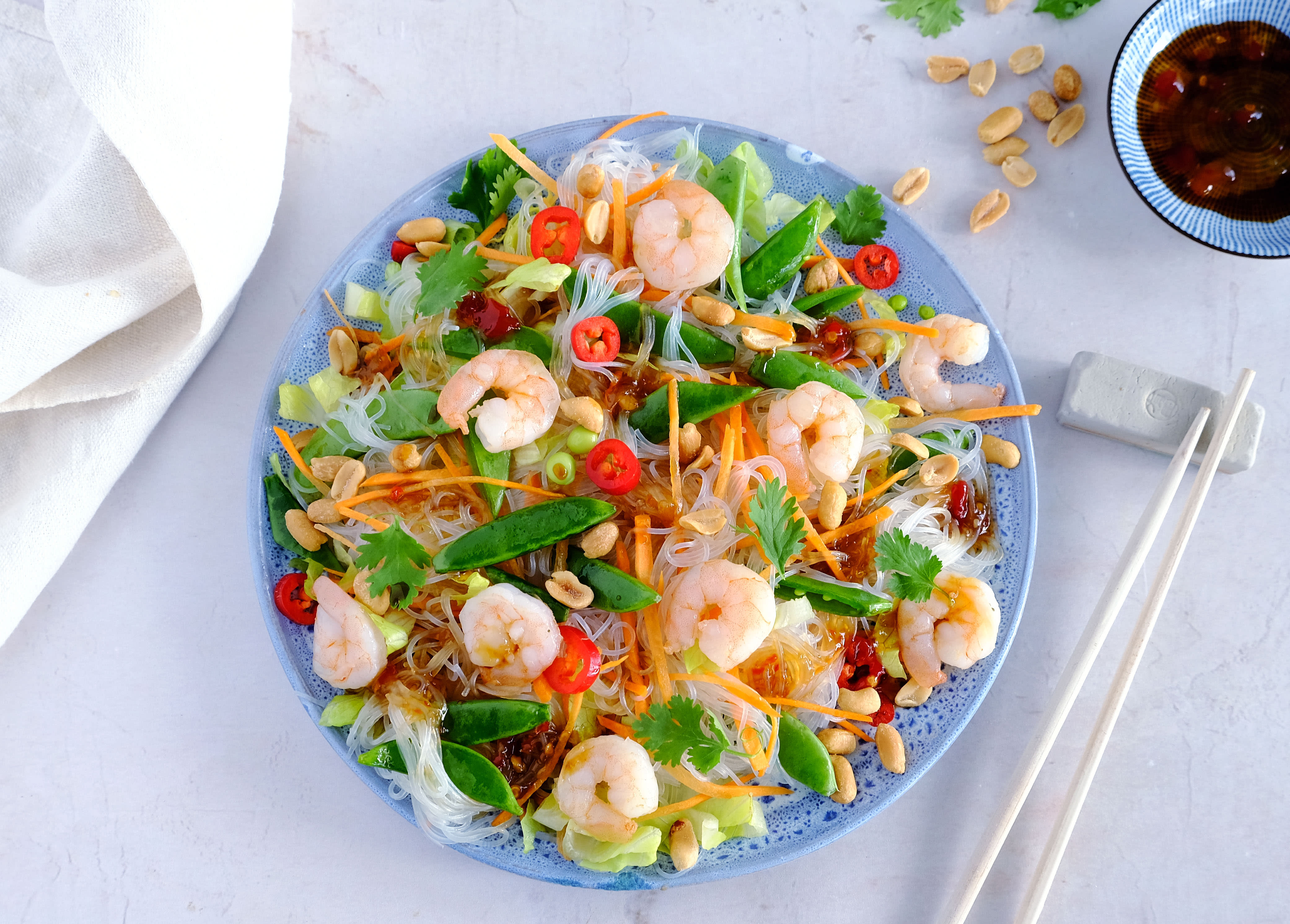 Crunchy Prawn and Glass Noodle Salad with Peanuts