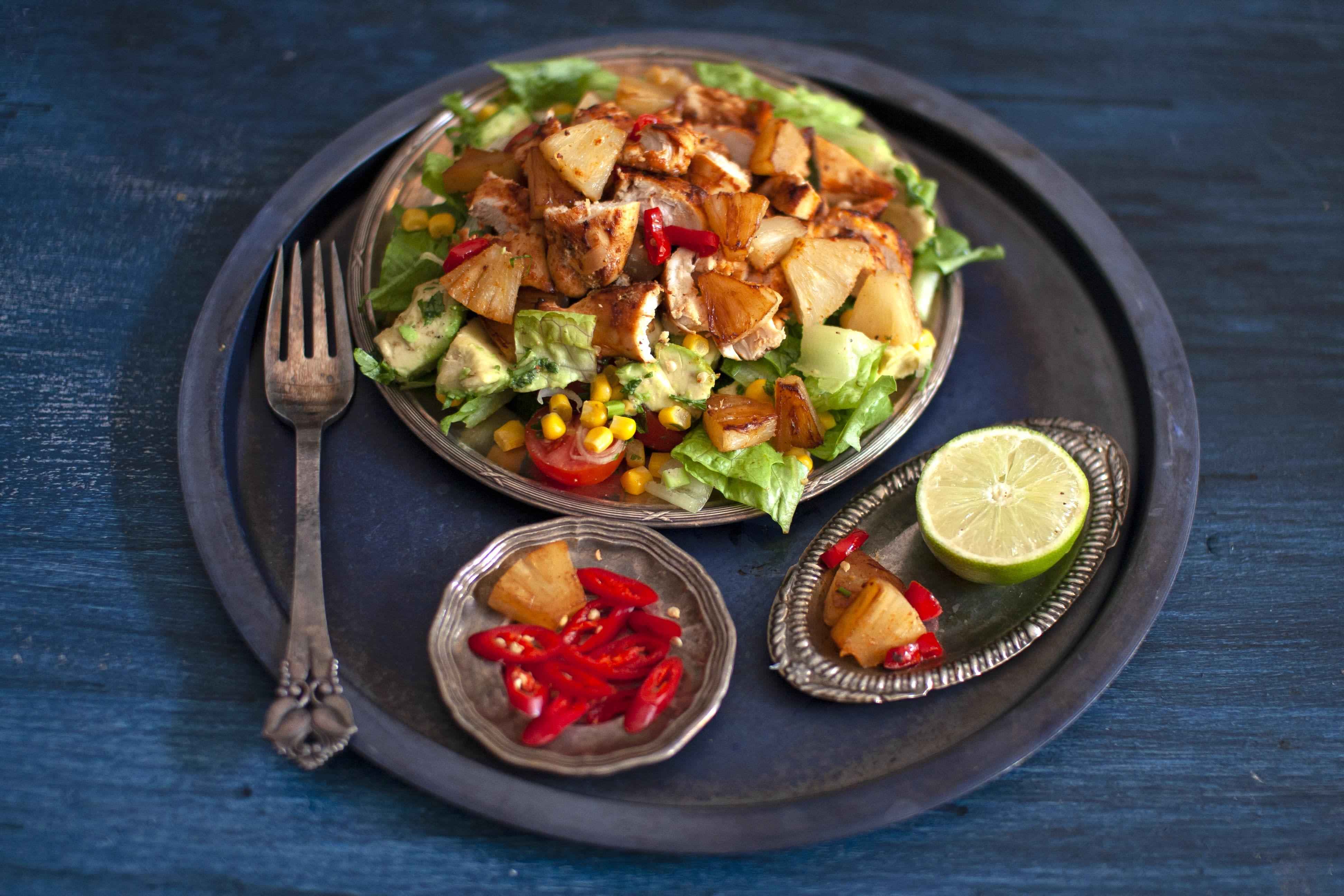 Chilli, Pineapple and Avocado Chicken Salad