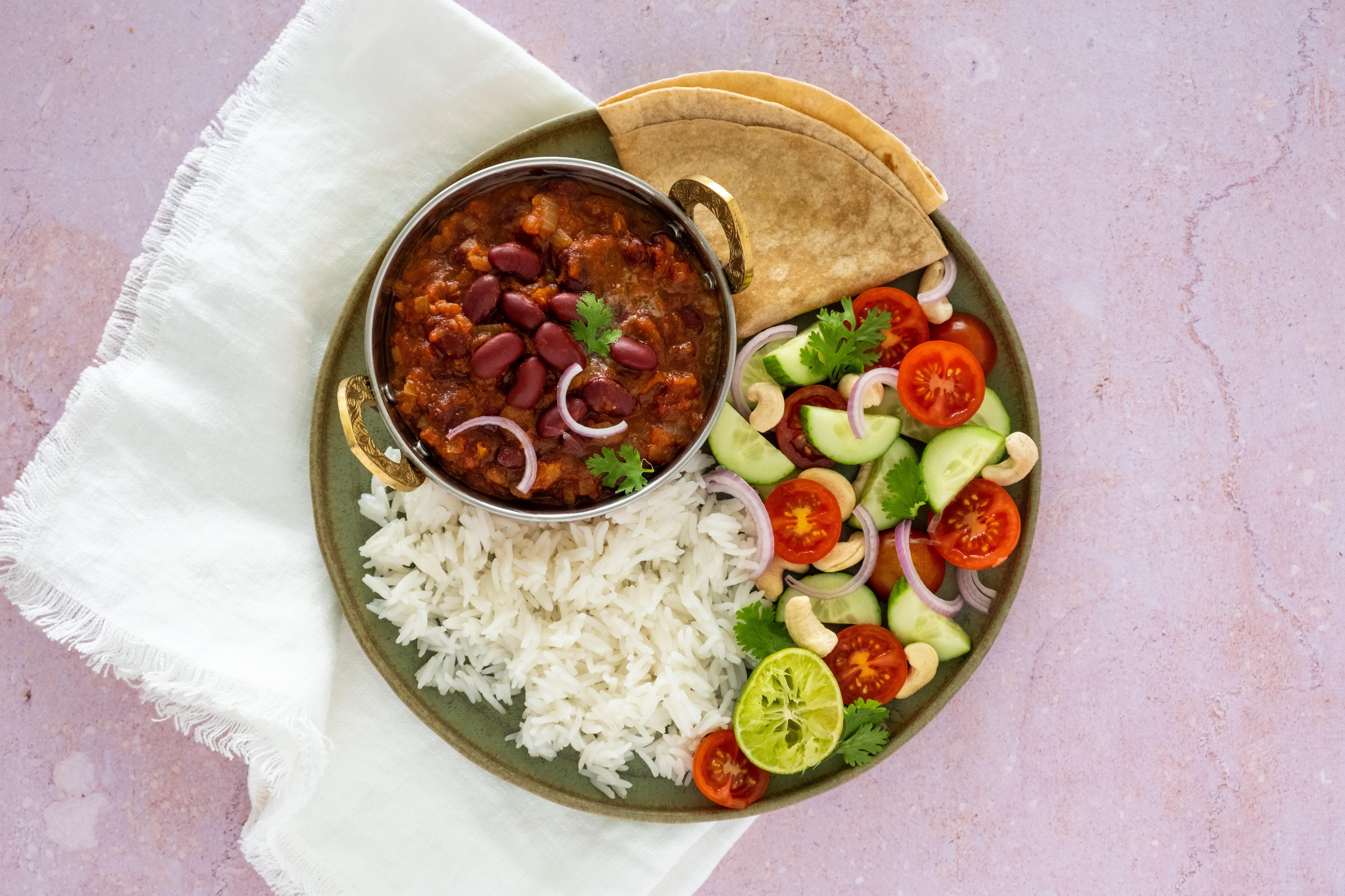 Rajma; Spiced Kidney Beans with Basmati Rice