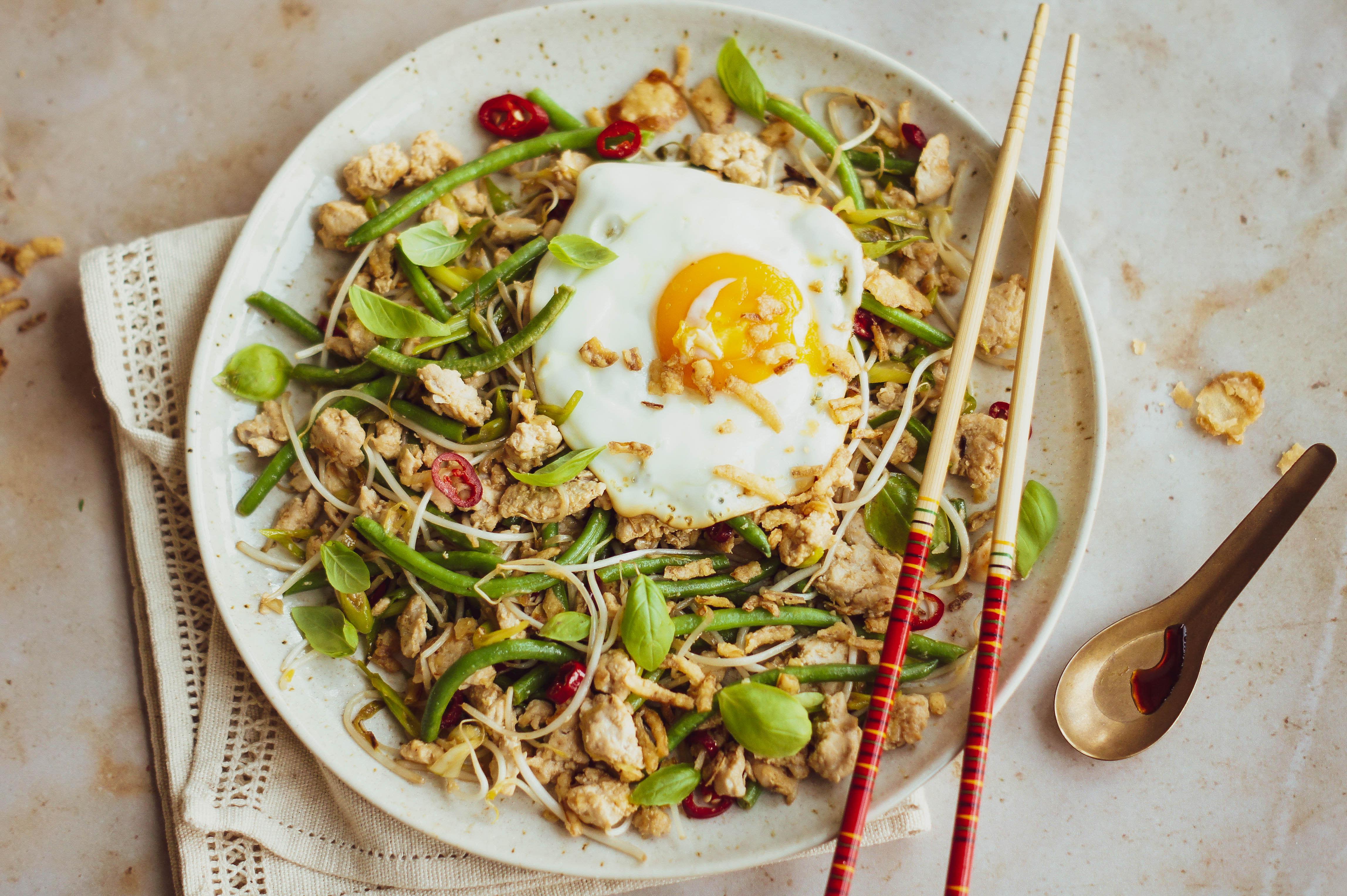 Thai Chicken Mince Stir-fry with Basil