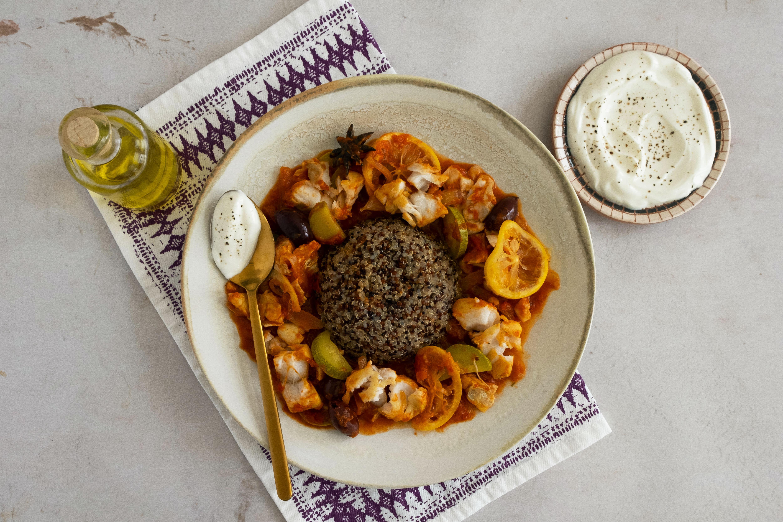 Cod Tagine with Quinoa