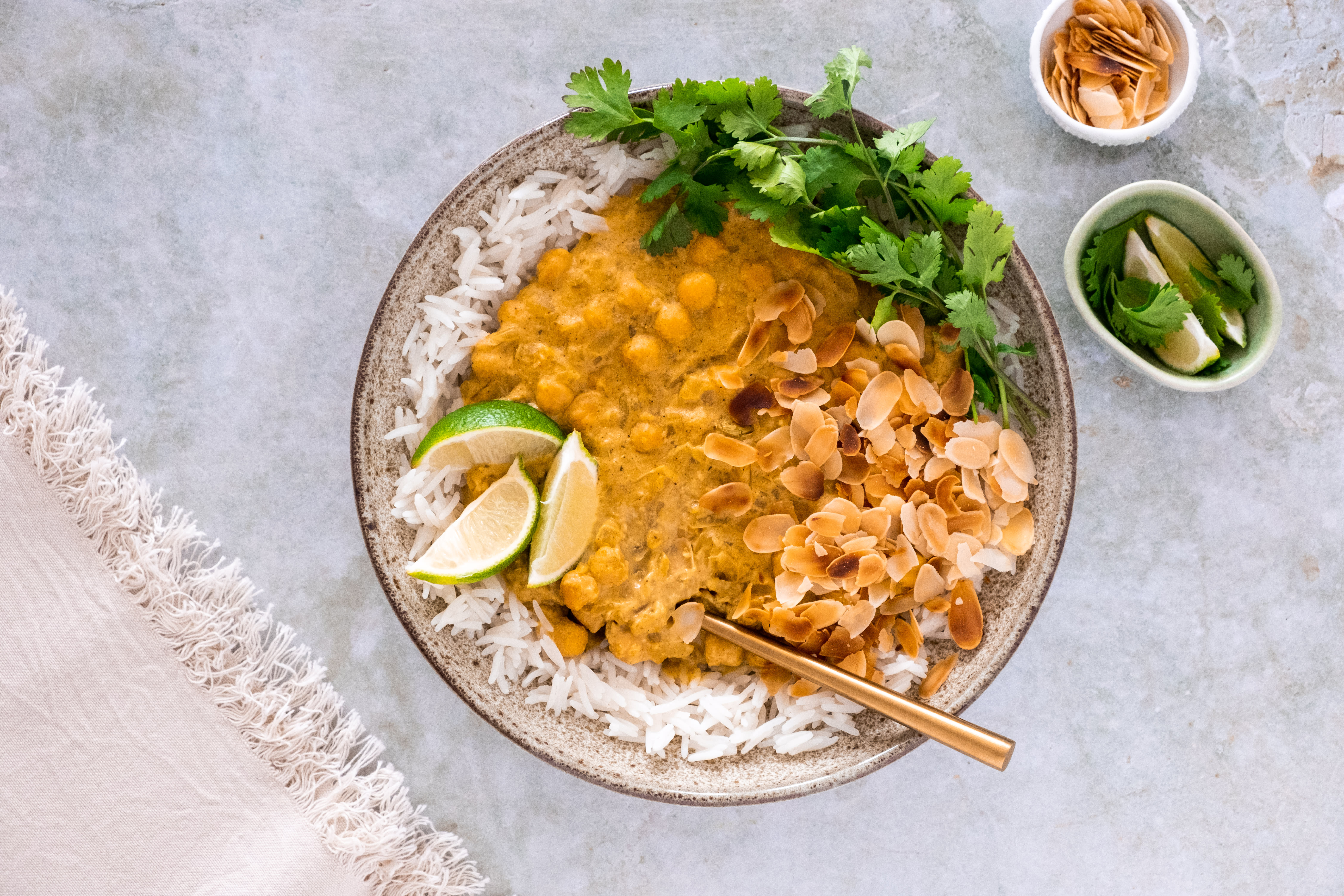 Chickpea Pasanda Curry with Basmati Rice