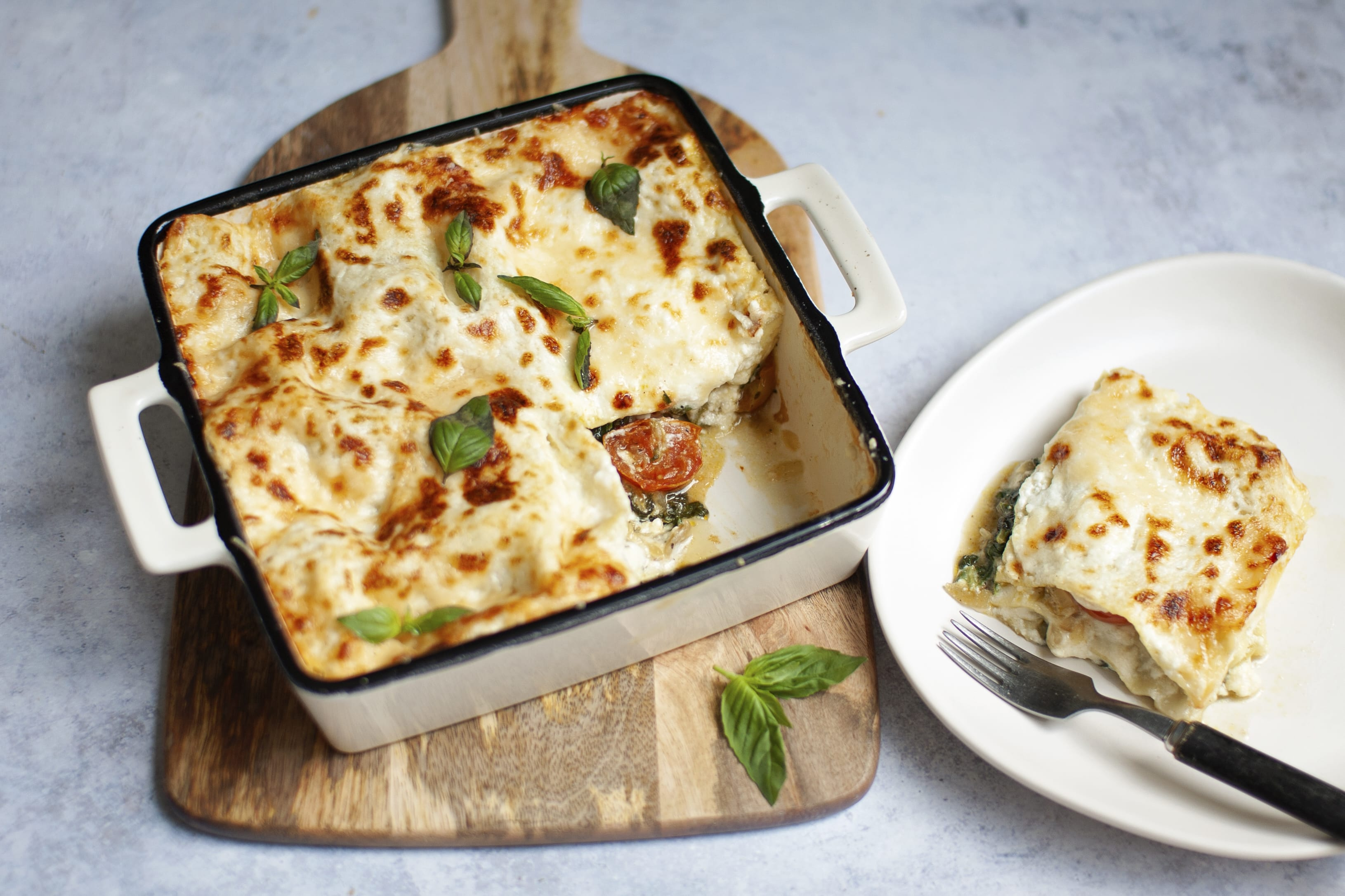Spinach, Mushroom and Ricotta Lasagna