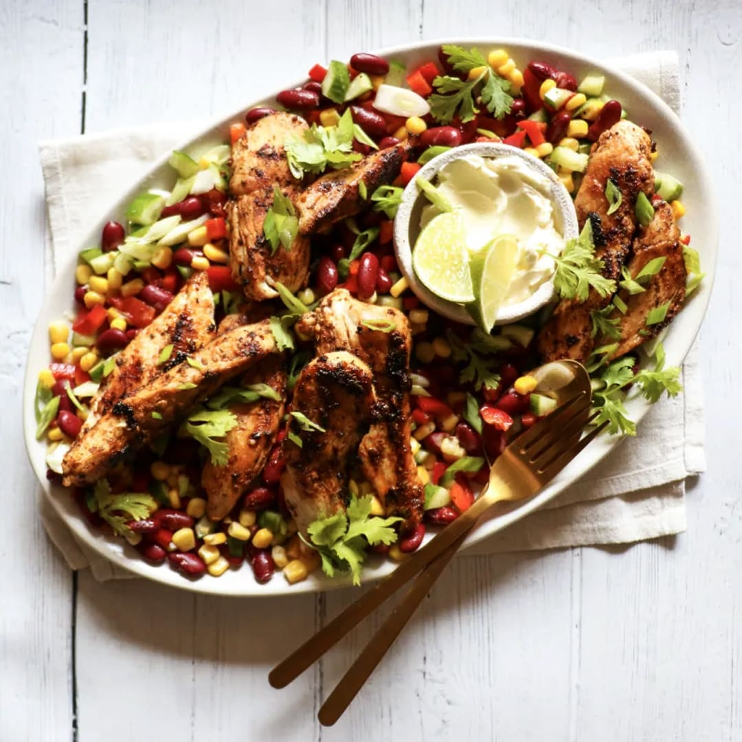 Cajun Chicken and Bean Salad
