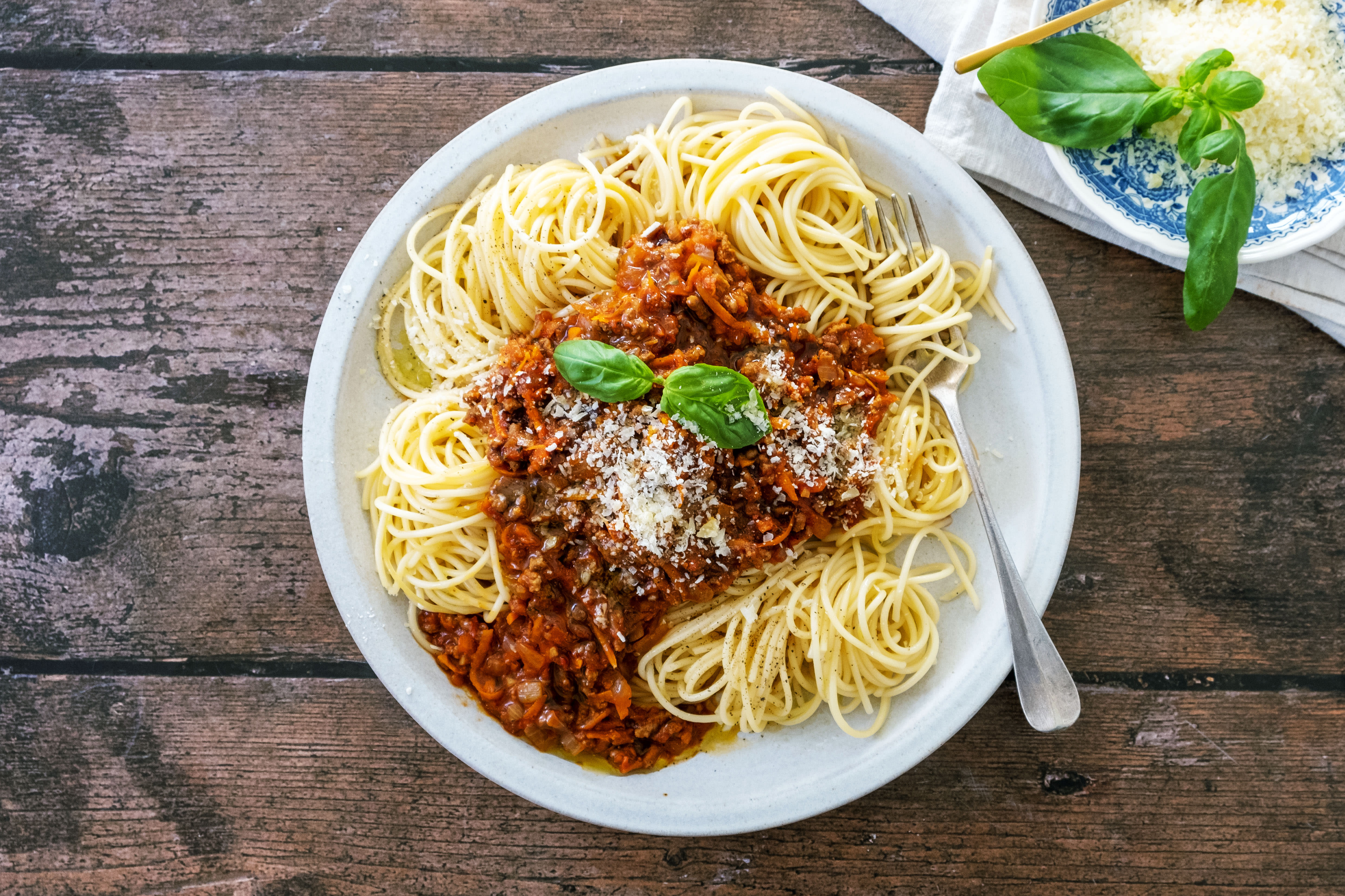 Classic Spaghetti Bolognese with Parmesan