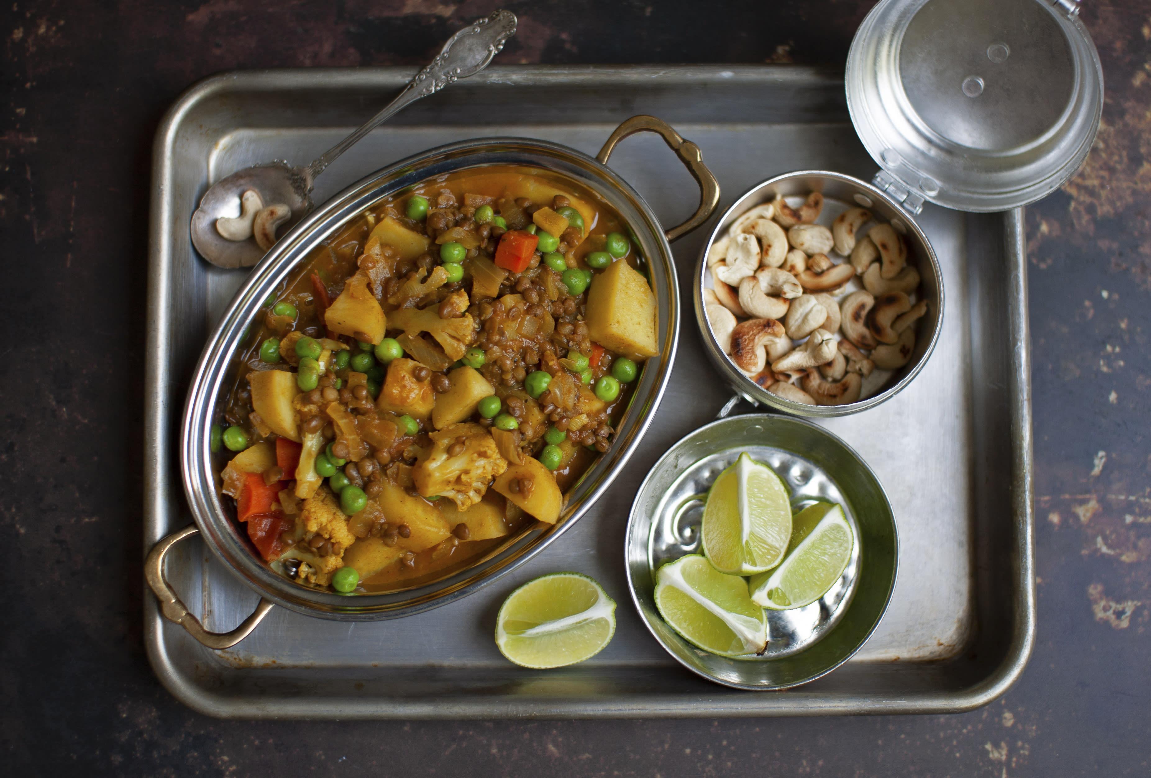 Potato and Mixed Veg Aloo Korma with Cashews