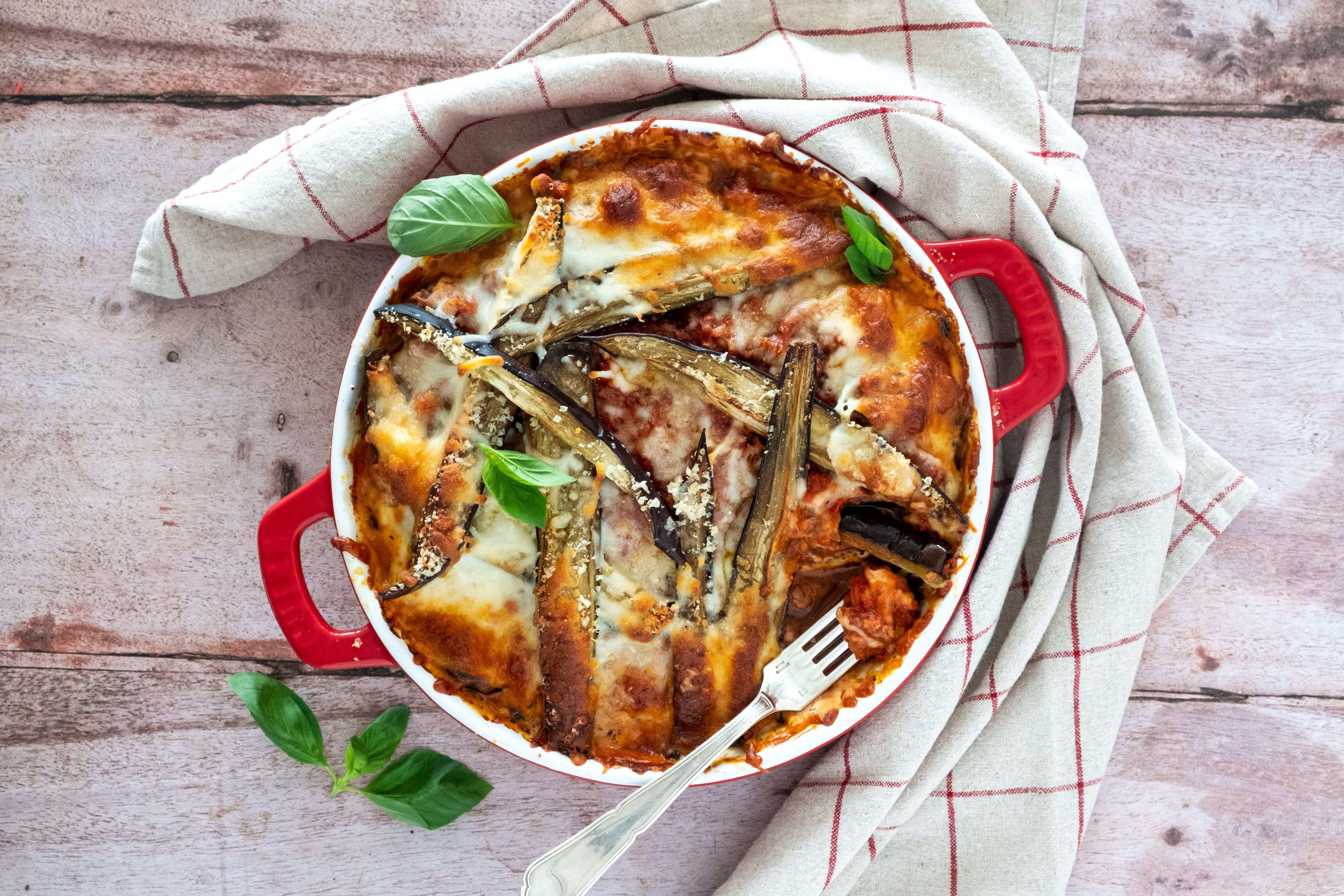 Cheesy Beef and Eggplant Lasagna