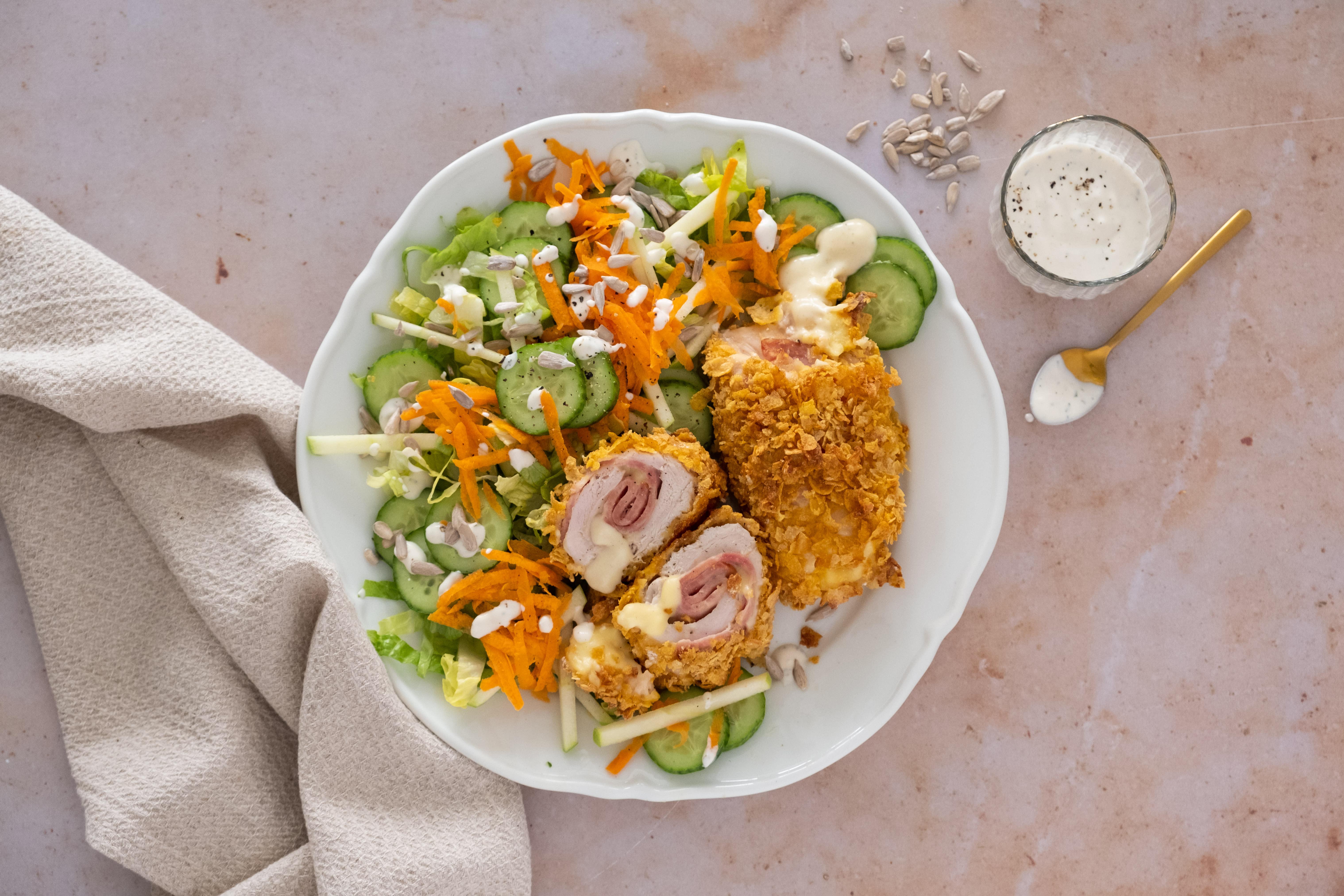 Retro Cordon Bleu with Crunchy French Salad
