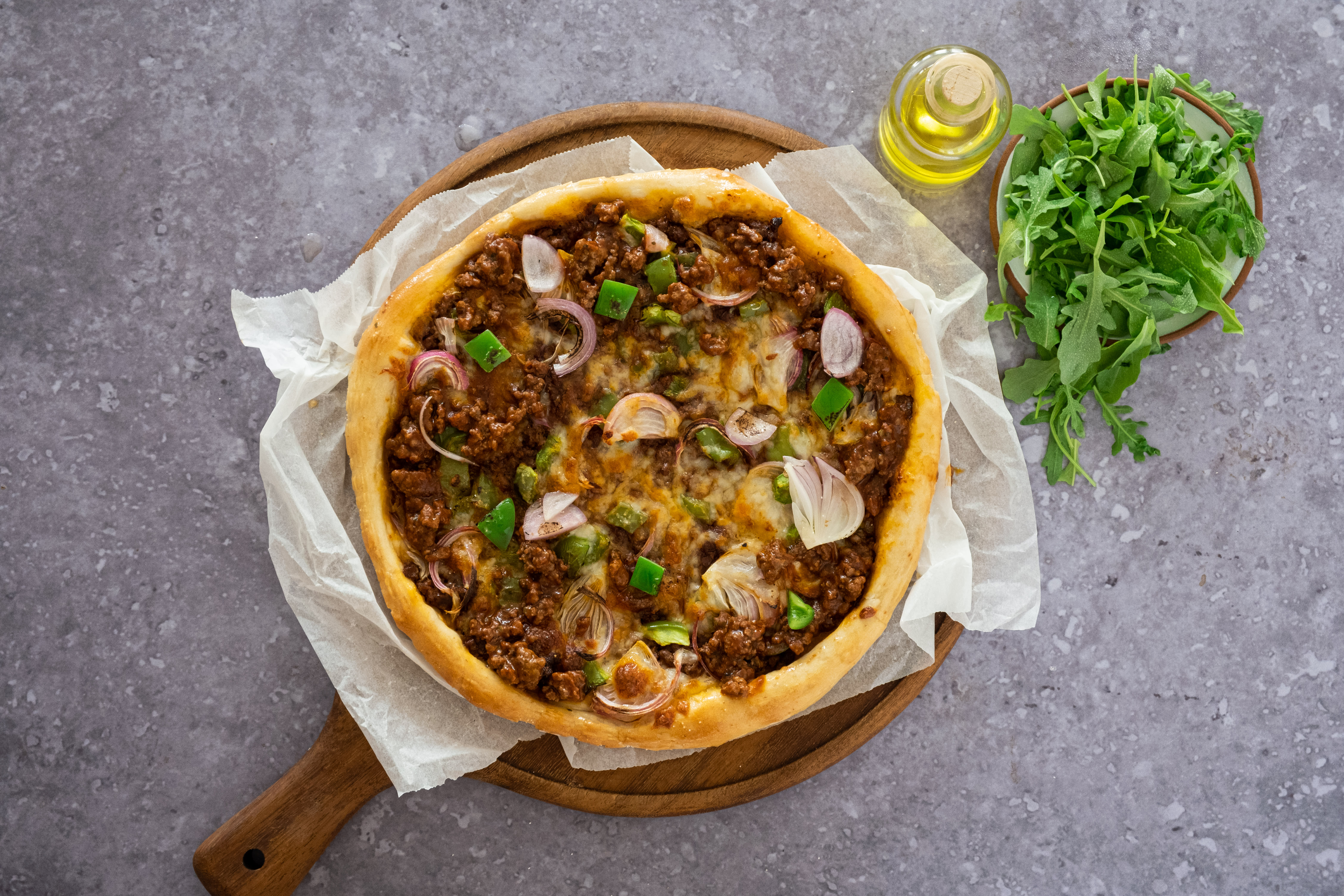 Sloppy Giusepe Pizza with Peppers and Onions