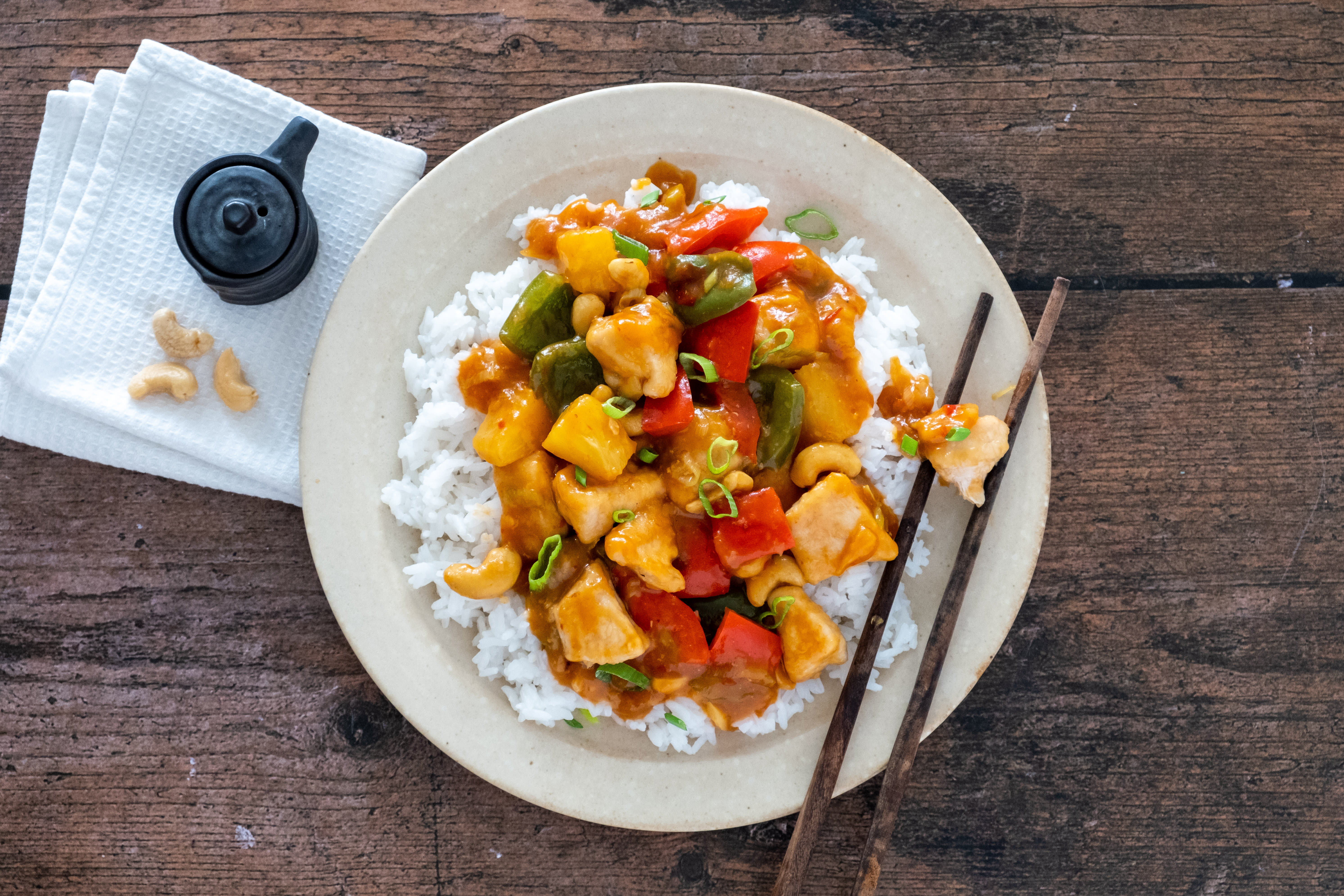 Sweet and Sour Chicken with Jasmine Rice