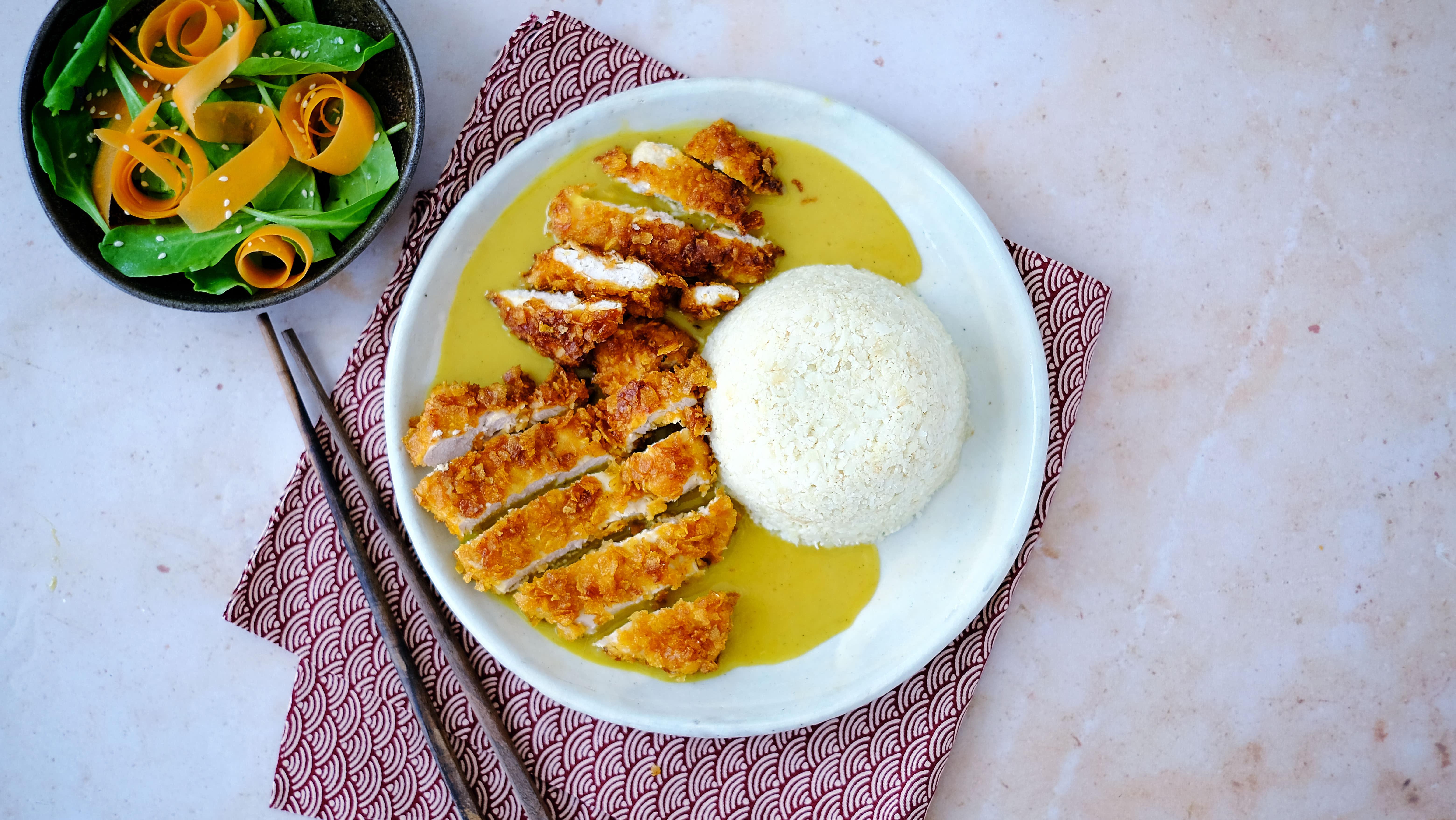 Chicken Katsu Curry with Cauliflower Rice