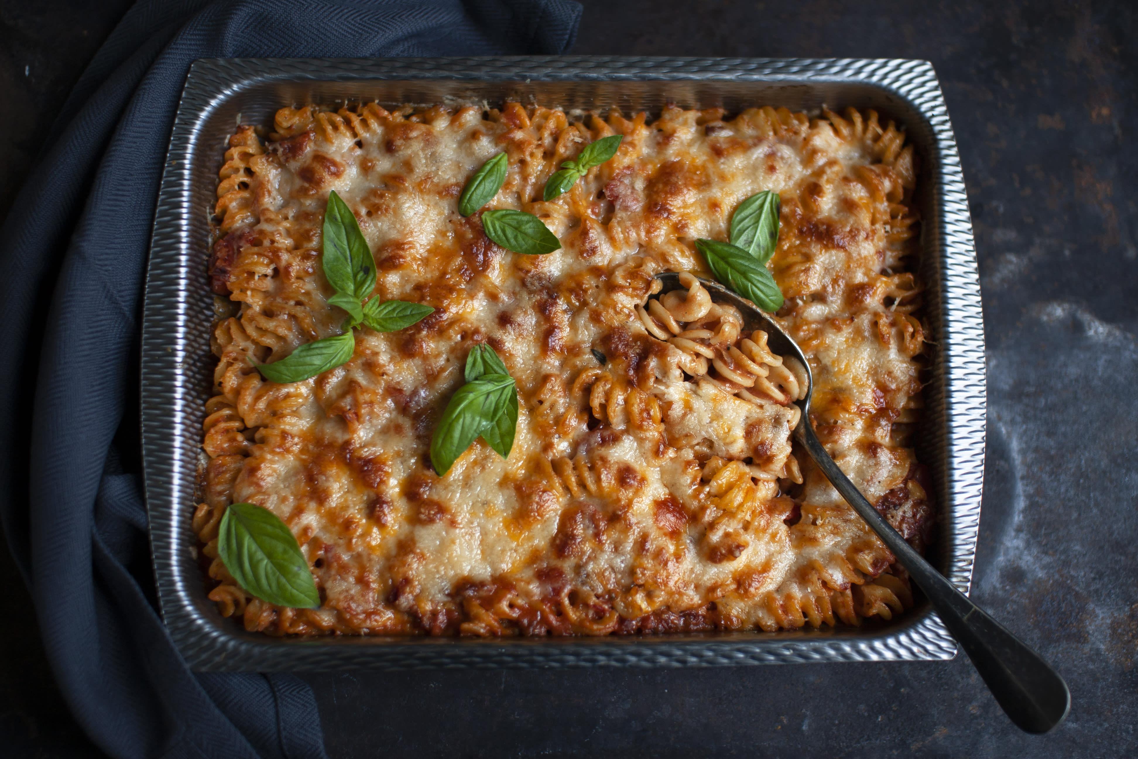 Four Cheese and Tomato Pasta Bake