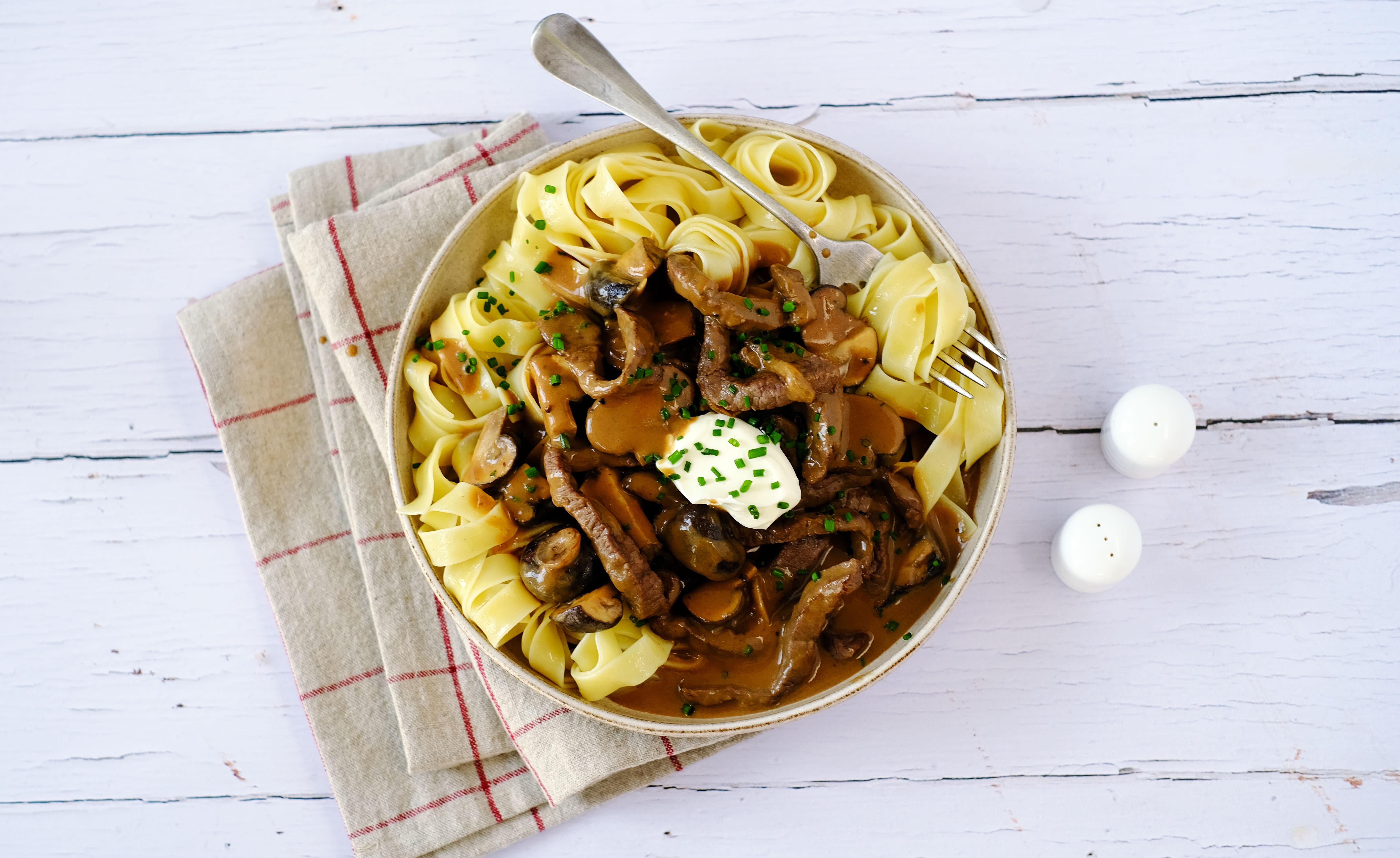 Beef Stroganoff with Tagliatelle