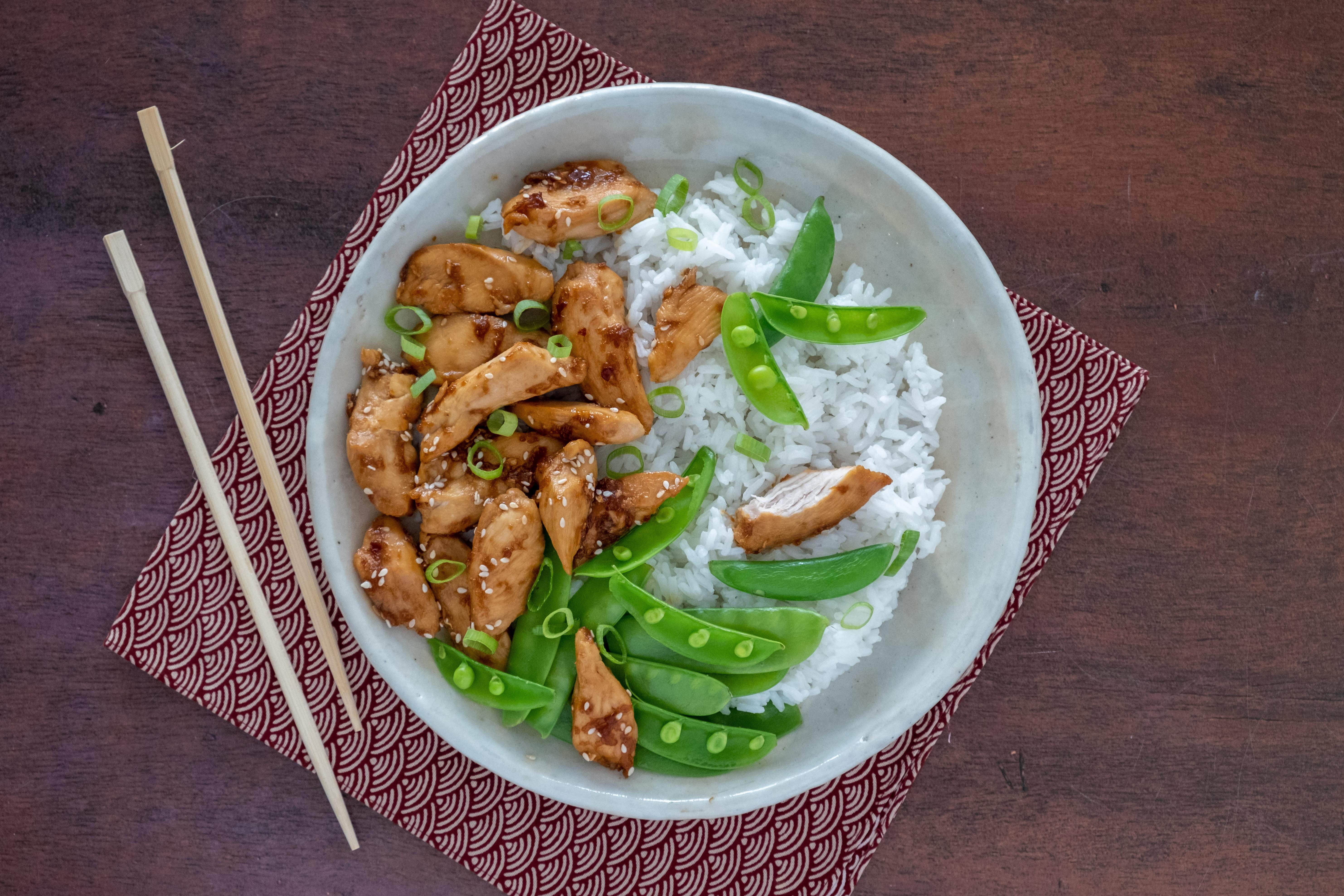 Teriyaki Chicken with Jasmine Rice and Greens
