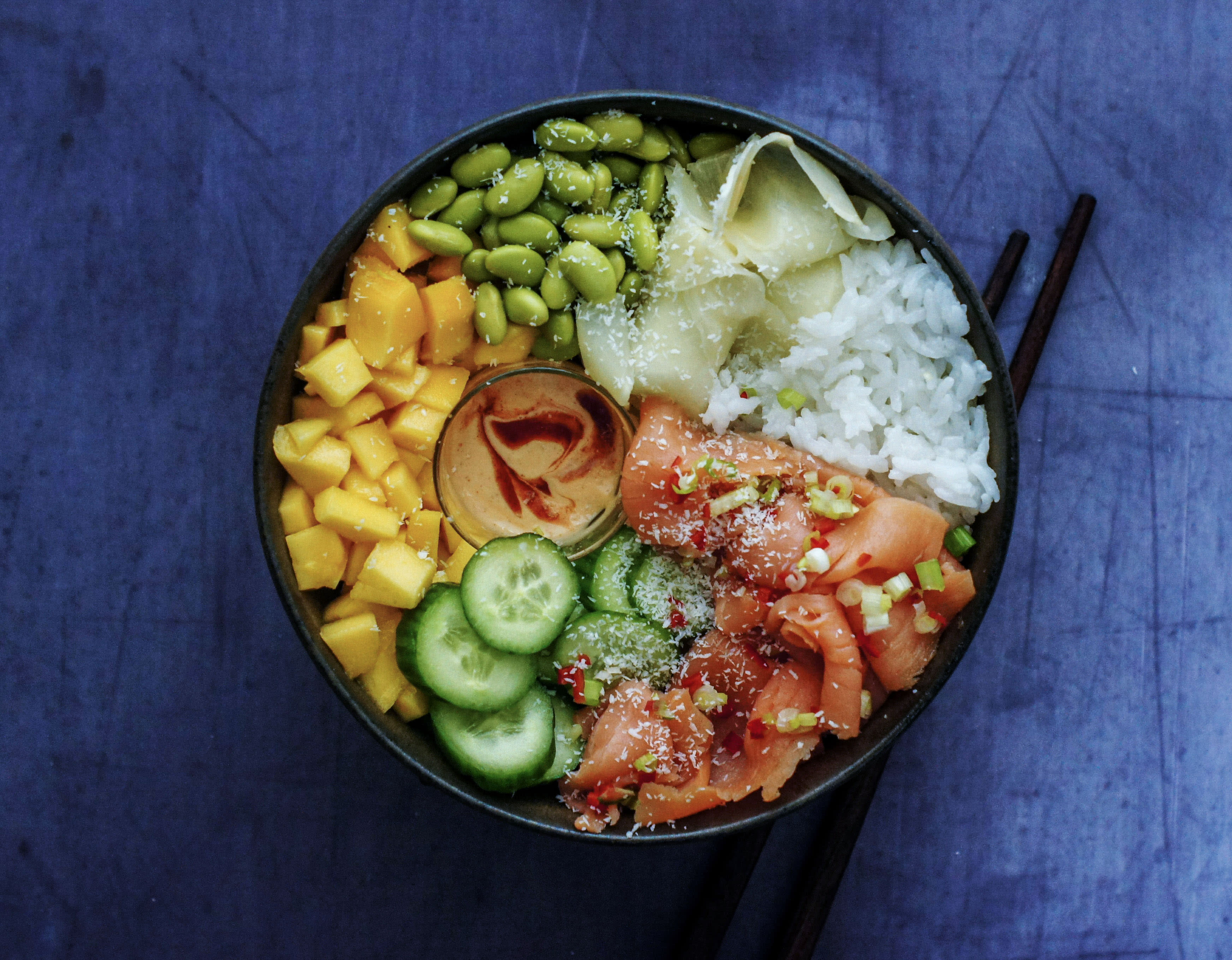 Smoked Salmon & Mango Poke Bowl