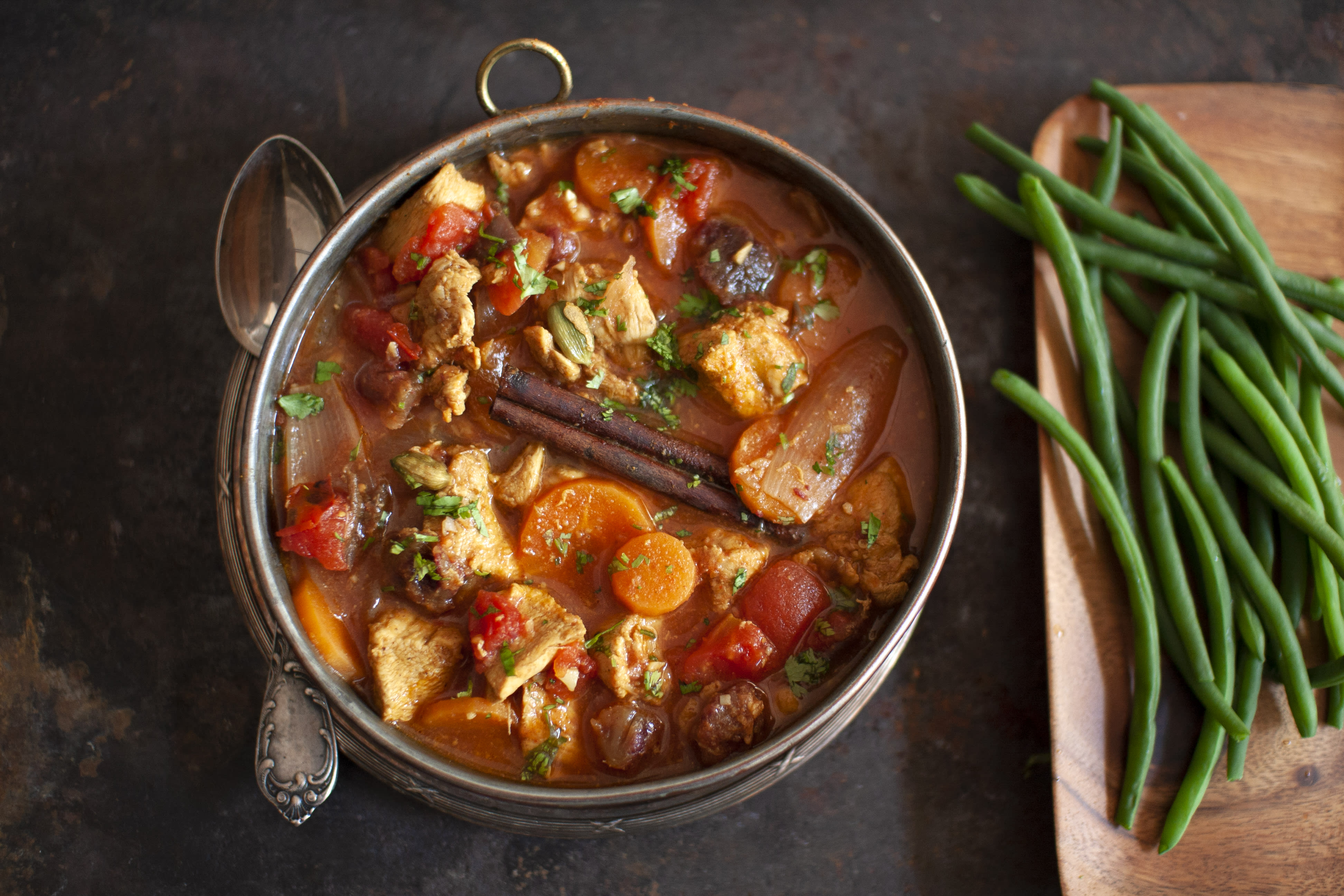 Moroccan Chicken and Date Stew with Green Beans