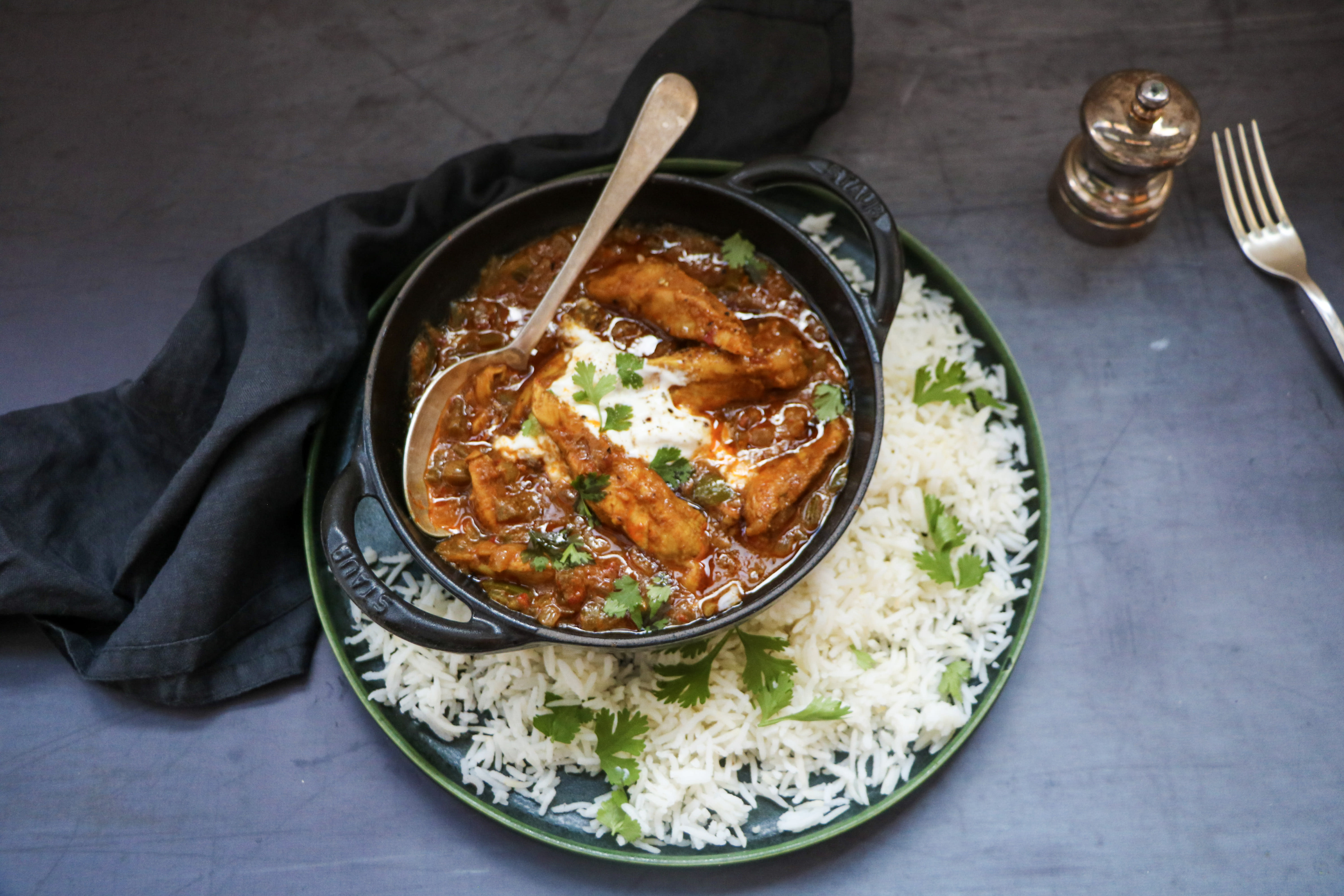 Chicken Vindaloo Curry with Basmati Rice