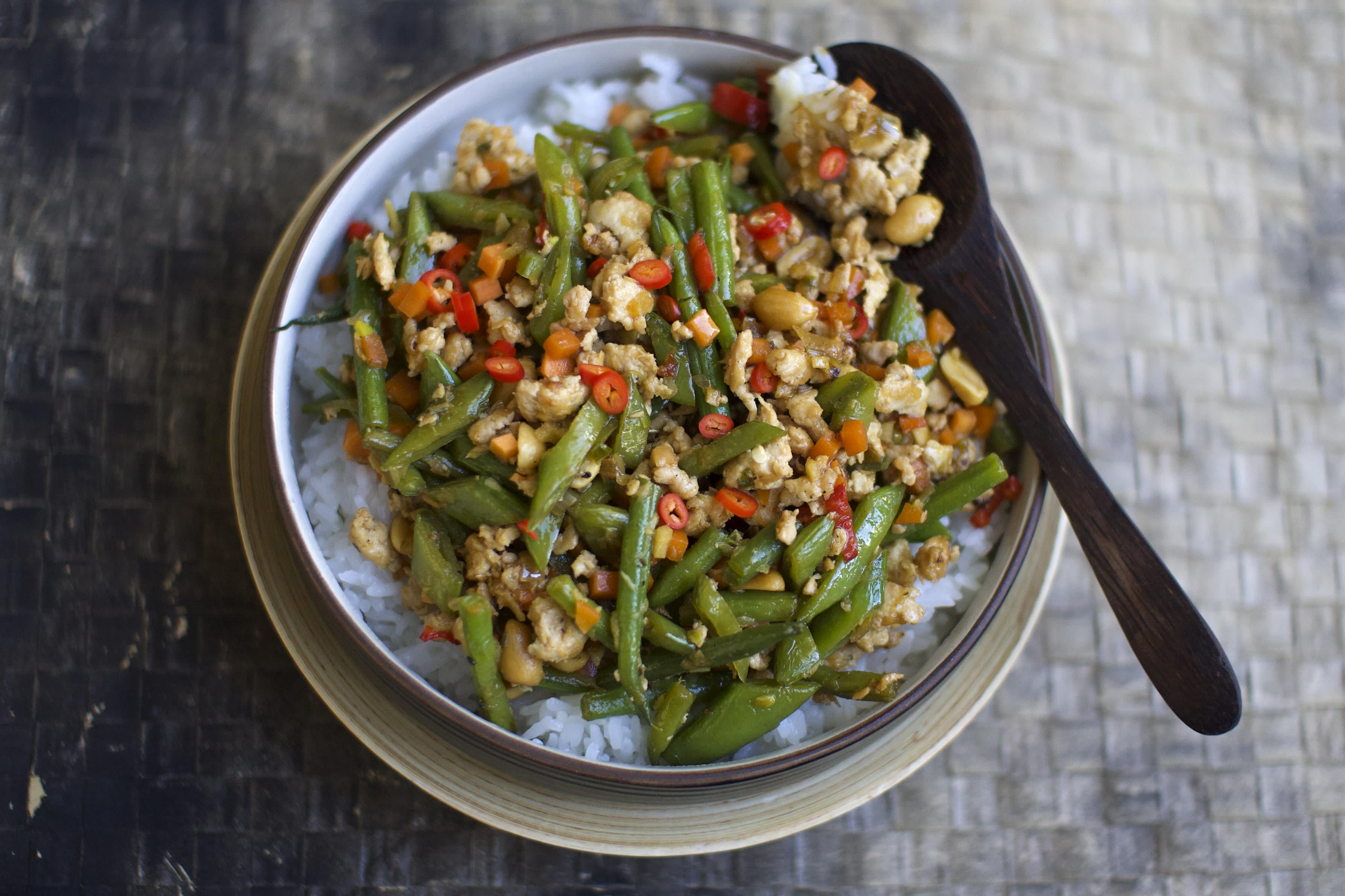 Asian Chicken and Peanut Stir-Fry
