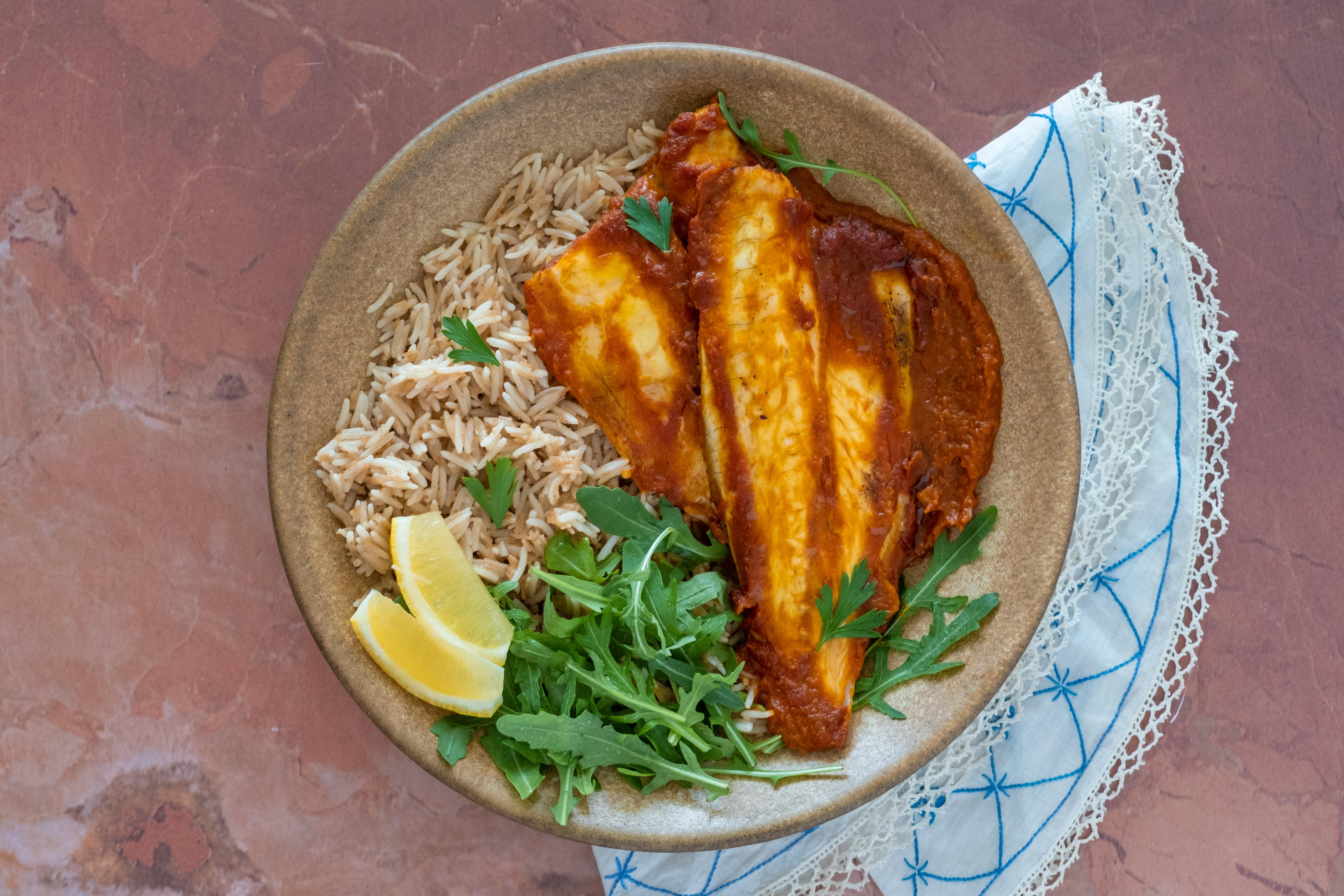 Masgouf - Iraqi Seabass with Vermicelli Rice