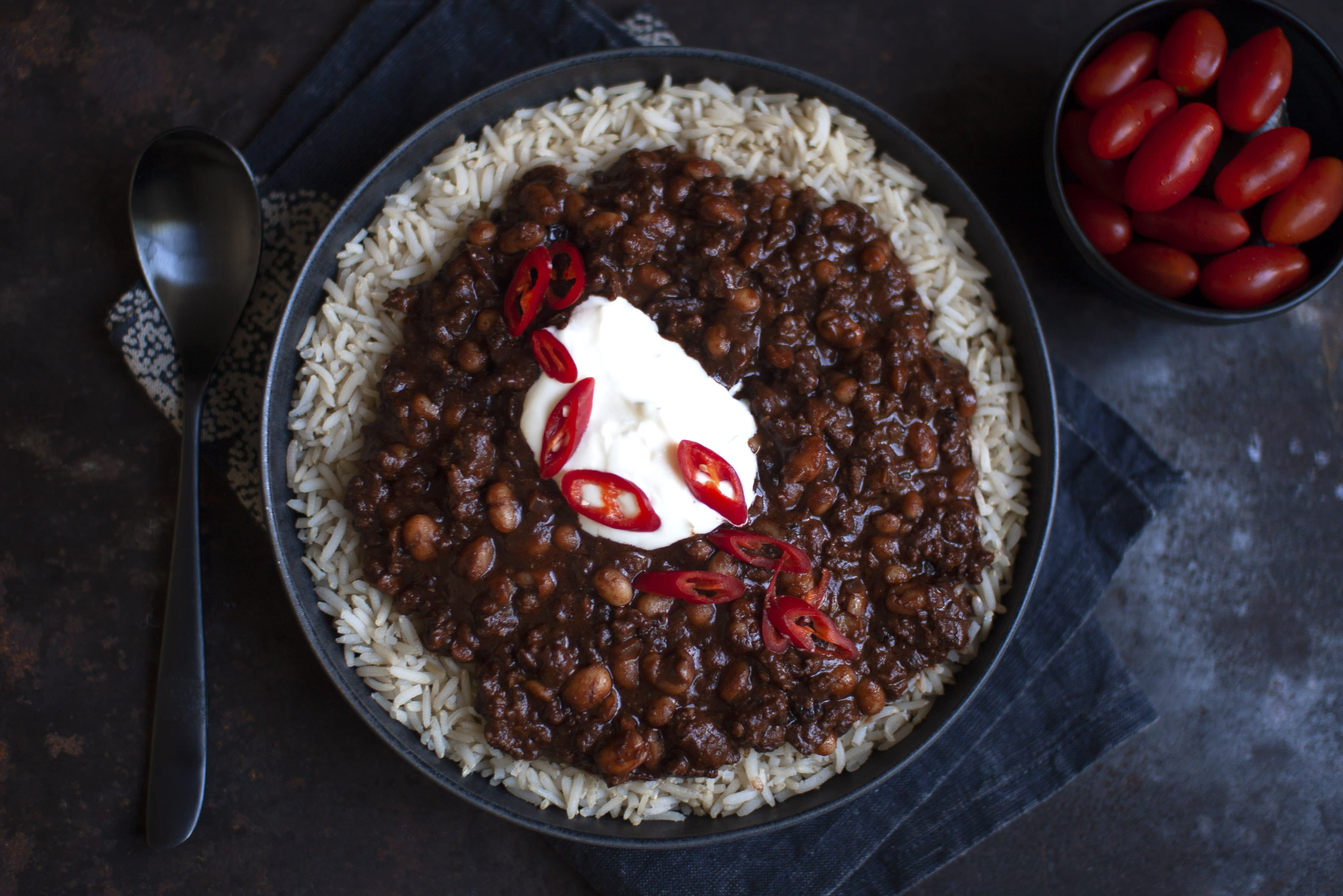 Chili con Carne with Brown Rice