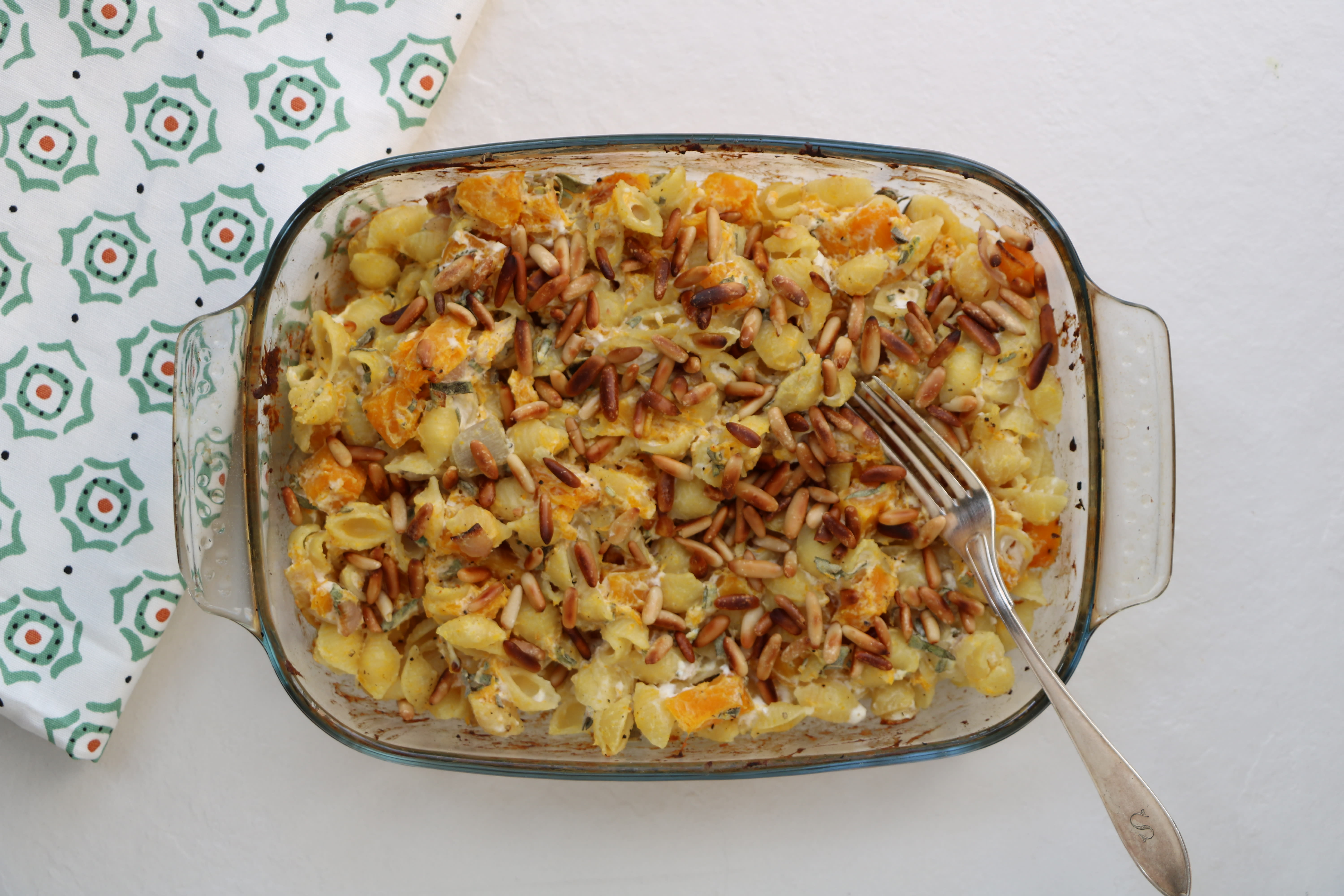 Baked Conchiglie Pasta with Roasted Pumpkin, Sage and Pine Nuts
