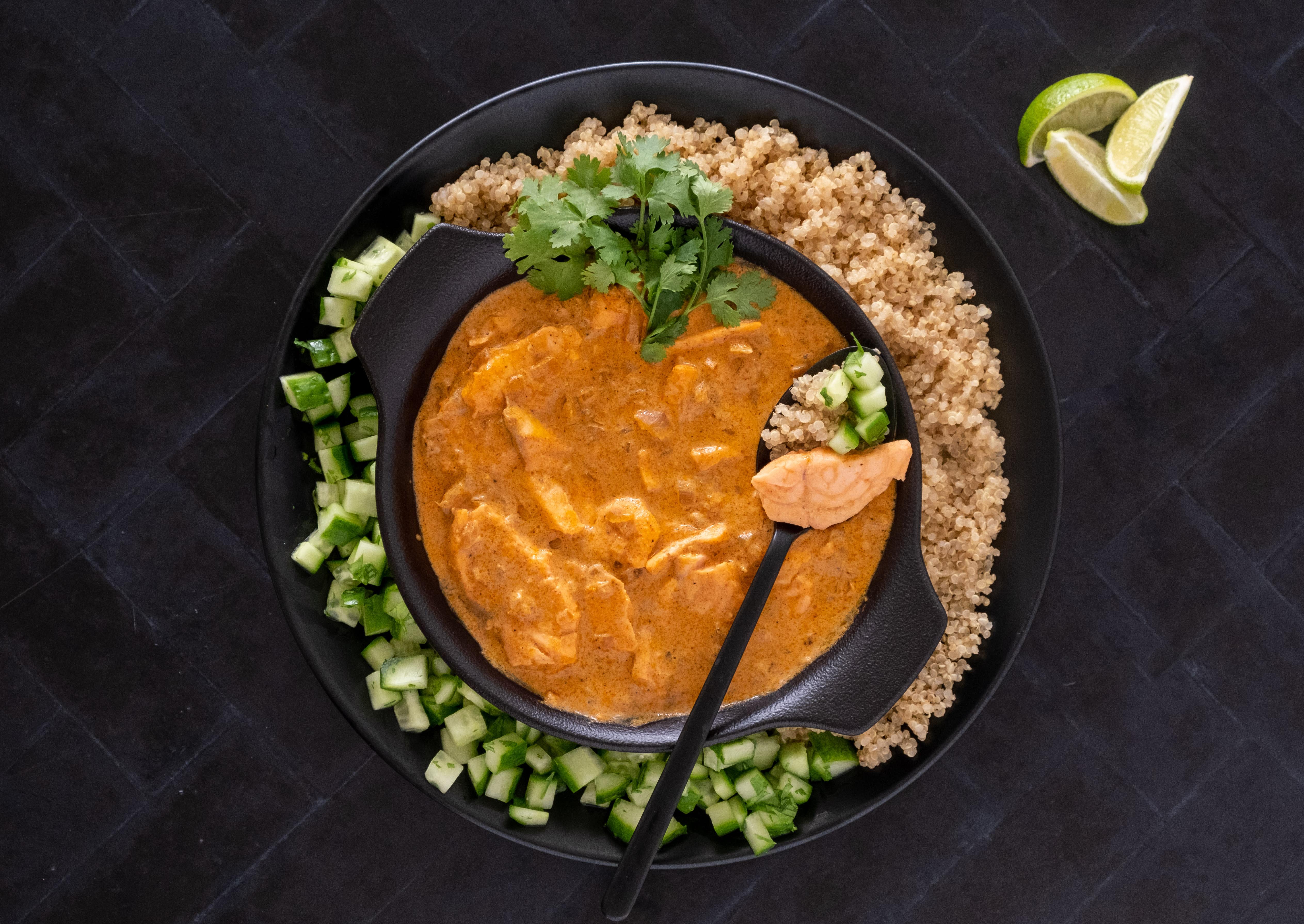 Salmon Tikka Masala with Quinoa