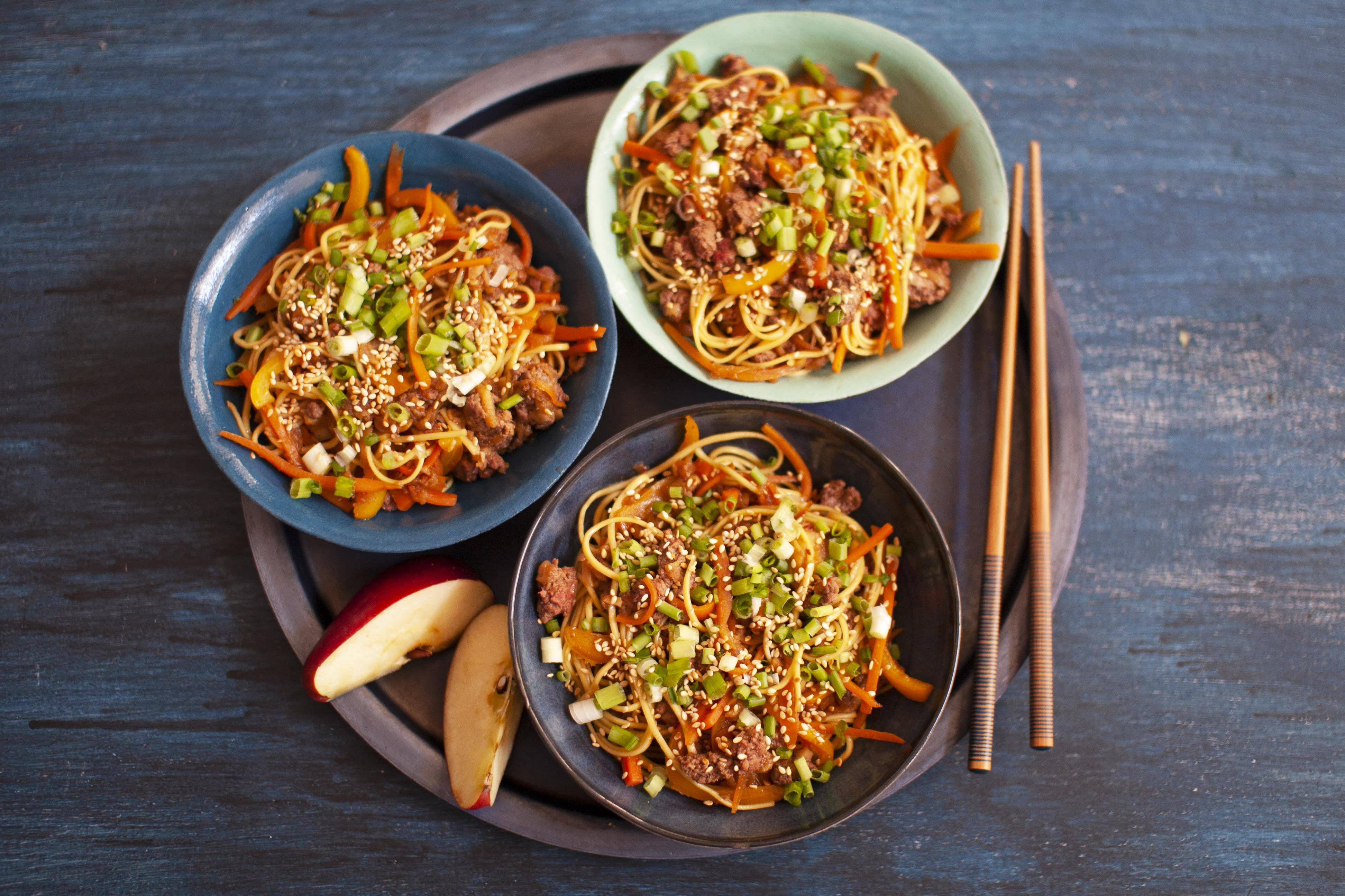 Korean Beef Bowl on Noodles